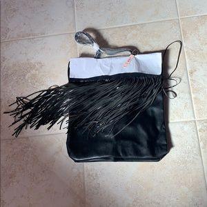[Victoria's Secret] NWT black fringe tote